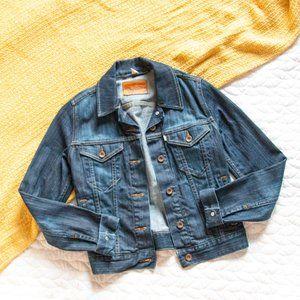 Levis • Dark Wash Denim Button Up Pocket Jacket